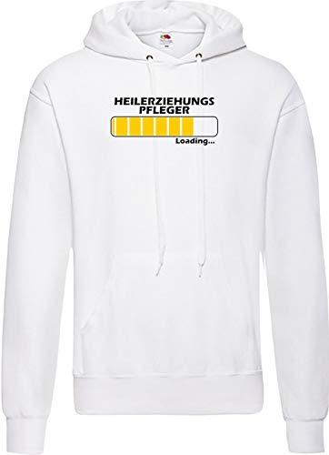 Männer Hooded Loading HEILERZIEHUNGS Pfleger, Beste Berufe, Weiss, XXL