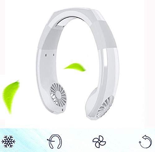 Yajun Lüfter Air Cooler Ventilator Conditioning Fan Luftkühler Tisch Schreibtisch Geräuschlos Hängender Hals Mini Multi Angle Rotation Einstellbares Design USB Lade,White