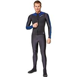 NeoSport Combinaisons de plongée pour Homme Premium en néoprène 2,5mm Fermeture Éclair Gilet, Homme, Bordure Bleue