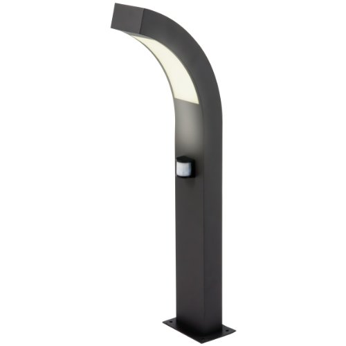 Heitronic LED Sockelleuchte Pironde 2, Schwarz, Aluminium/ Kunststoff, Bewegungsmelder, 35912