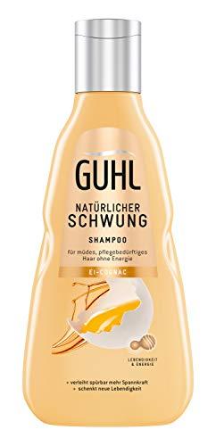 Guhl Natürlicher Schwung Shampoo - Mit Ei Und Cognac - Enthält Proteine Und Lecithin - Stärkt Das Haar, 250 Ml