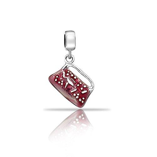 eldbörse Kupplung baumeln 925Sterling Silber Passend für Pandora Charme Armband (Silber Kupplung Geldbörse)