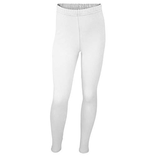 Mädchen Leggings Lang Baumwolle Blickdicht Kinderhosen Leggins Kinder Stoffhose Schwarz Weiß Blau, Farbe: Weiß, Größe: 98