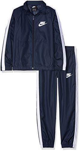 Nike Jungen Track Suit Sportswear Woven, Obsidian/White/White, L, AR5103-451