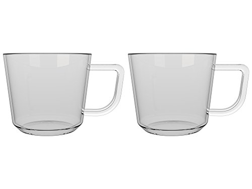 La Cafetiere Healthy Living Brygga Tasses à thé, Isolation Thermique en Verre, 10.2 x 7.5 x 6.5 cm