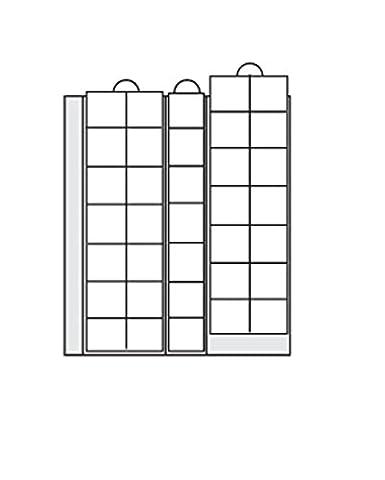 5 x SAFE 7393-5 Premium Münzhüllen - Münzblätter - Ergänzungsblätter Für Münzen bis 28 mm - Ideal für 2 - 5 Euro Gedenkmünzen