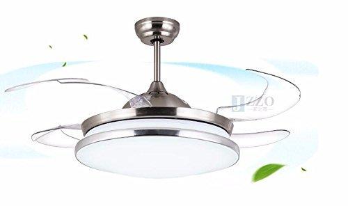 ZHANG NAN ● *Deckenventilator mit Lampe Schlafzimmer Modern Minimalist Fan Kronleuchter LED Stealth Fan Light 42 Zoll 36 W Weiß Fernbedienung Beleuchtung Lampen und Laternen Durchmesser 106 cm ● -