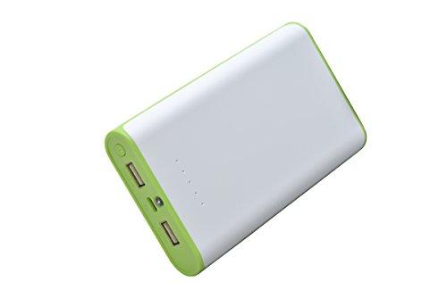 aricona Power Bank 20800 mAh in grün - externer & mobiler USB PowerBank Akku, paralleler Ladevorgang für bis zu zwei Handy 's, Smartphones & Tablets - Der Power Pack Charger