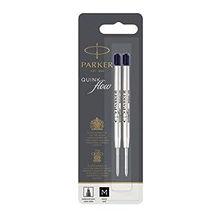 Parker Quinkflow Ball Pen Refill Medium Nib Black, Pack of 2