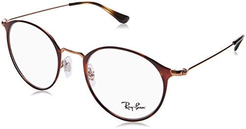 Ray-Ban Unisex-Erwachsene 0RX 6378 2971 49 Brillengestelle, Braun (Copper On Topo Havana),