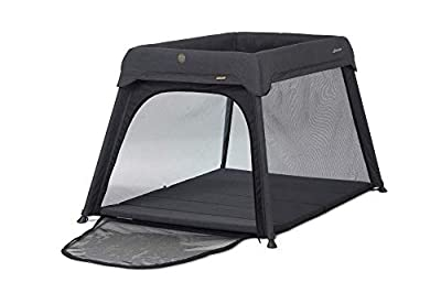 Micralite Travel Cot 3 in 1 Sleep & Go Portable Travel Cot - Carbon/Grey. Converts into Newborn Crib - Infant Cot Bed & Playpen. Extendable Plush Mattress Included. Suitable from Birth to 36 Months