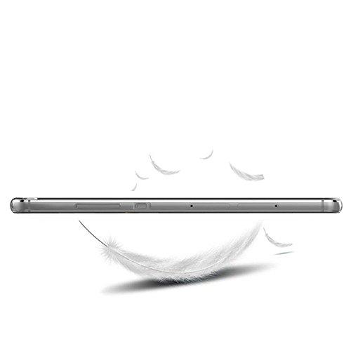 Huawei P8 Lite Hülle,EinsAcc Silikon Landschaft Weich Hülle Case Backcover für Huawei P8 Lite (Berg) Gletscher