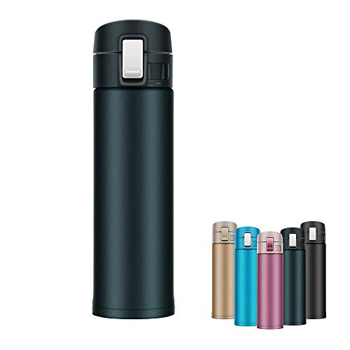 c68b604c3bec Newdora Double Vacuum Insulated Cup Water Bottle, 16 Oz Travel Mug  Stainless Steel Coffee Mug BPA Free for Office Car Home Leisure - Canteen  Water ...