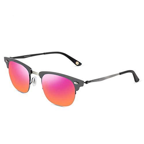 DX Rahmenmetallrahmensonnenbrille der Retro- Paare halber, die Spiegel fährt