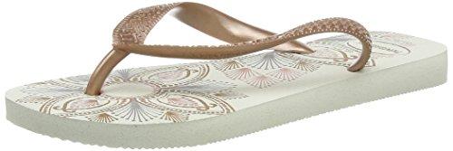 Havaianas - Spring, Sandalo da donna, colore bianco (white/rose 2358), taglia 39/40 EU (Taglia Produttore : 37/38 BR)