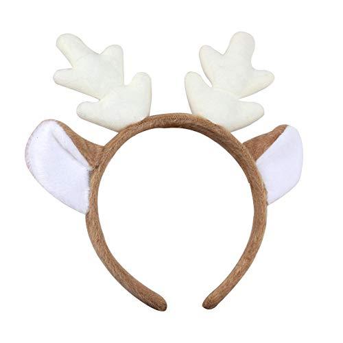 Weihnachts Elchgeweih Haarreif Haarschmuck Kopfbügel Stirnband, für Kinder & Erwachsene...