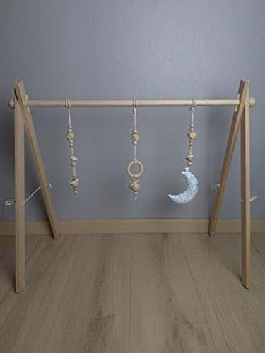 portique d 39 veil arche d 39 activit montessori en bois de. Black Bedroom Furniture Sets. Home Design Ideas