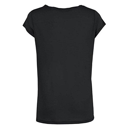 Leichtes Bio Baumwolle Oversize Shirt take me back to bed Damen tshirt mit Spruch Ladies tanktop Oberteil toller Ausschnitt Schwarz