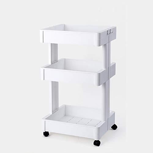 Badezimmerablagen und-Regale Multi-Layer-Lagerregal mit Rollen Küche Kunststoff Badezimmer Abnehmbare Boden Quilting Rack Lager Artefakt (größe : 79)