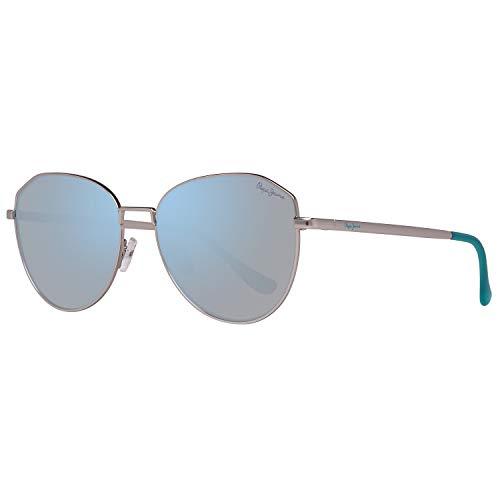 Pepe Jeans Damen PJ5137C455 Sonnenbrille, Silber (Silver), 55