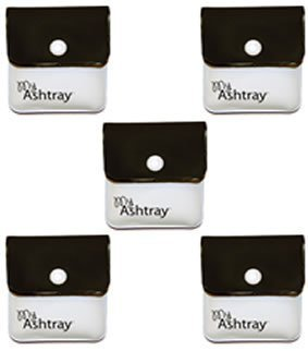 MyAshtray Taschen-Aschenbecher, Schwarz / Weiß