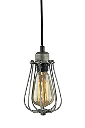 Purelume suspension style vintage noir avec ampoule edison - Amazon luminaire suspension ...