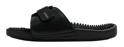 Kenkoh, les sandales de massage de réflexologie japonaise pour hommes et femmes Noir