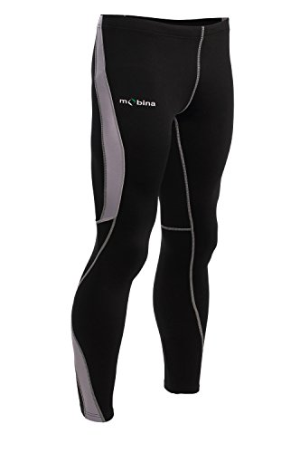 Mobina Pantalones de Compresión de Correr Deporte Jogging Fitness Yoga Para Mujer Cortavientos y Función de Secado Rápido - Verde / Negro M