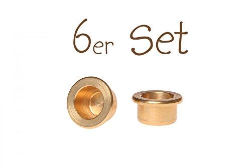 Grimm's 04800 Messinghalter Kerzeneinsatz 6er Set