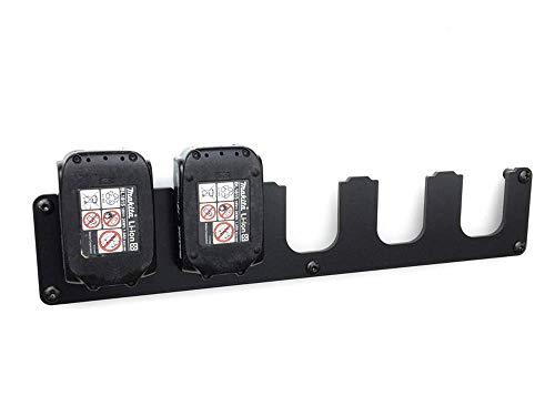 Wandhalterung passend für Makita Akku 14,4V und 18V Akkuhalter 5-Fach
