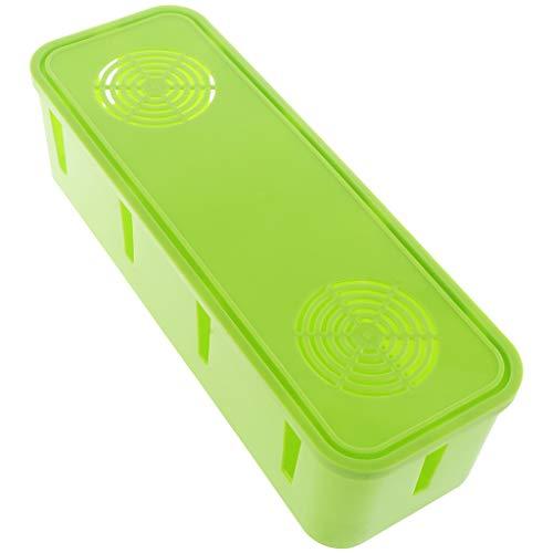 perfk Kabel-Aufbewahrungsbox Computer Kabel Draht Organizer Organizer Case Drahtsockel Aufbewahrungskoffer - Grün
