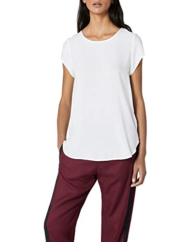 VERO MODA Damen Boca SS TOP T-Shirt, Weiß (Snow White), 34 (XS)