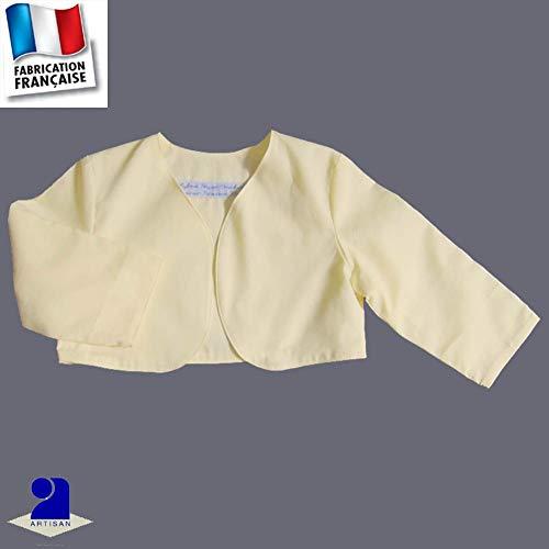 b9eba13a89a5 Poussin bleu - Boléro fille baptême et cérémonie, coton jaune pàle Couleur  - Jaune,