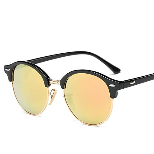 DongOJO Sonnenbrille-Frauen-populäre Retro Mann-Sommer-Art-SonnenbrilleC5Yellow