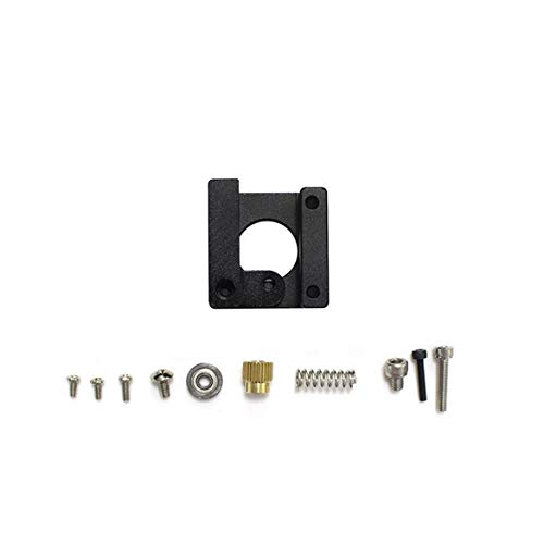 JohnJohnsen Extrusora MK8 Bloque de aleación de Aluminio Extrusora Bowden Extrusión 1.75MM Filamento Reprap para CR-10 DIY Impresora 3D Repuestos (Negro)