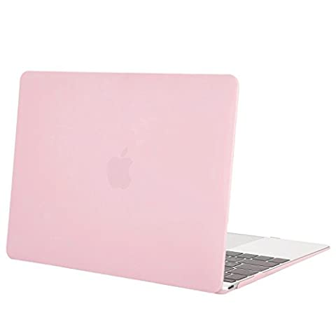 MOSISO Coque MacBook 12 Retina - Ultra Slim Rigide Étui Housse en Plastique Snap pour MacBook Pro 12 Pouces avec Écran Retina 2017/2016/2015 Libération, Rose Quartz(Baby
