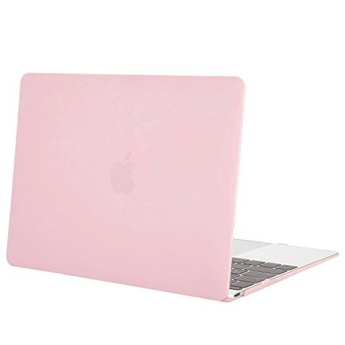 MOSISO MacBook 12 Retina Hülle - Ultra Slim Hochwertige Hartschale Tasche Schutzhülle Snap Case für MacBook 12 Zoll mit Retina Display A1534 (Neueste Version 2017/2016/2015), Rosenquarz