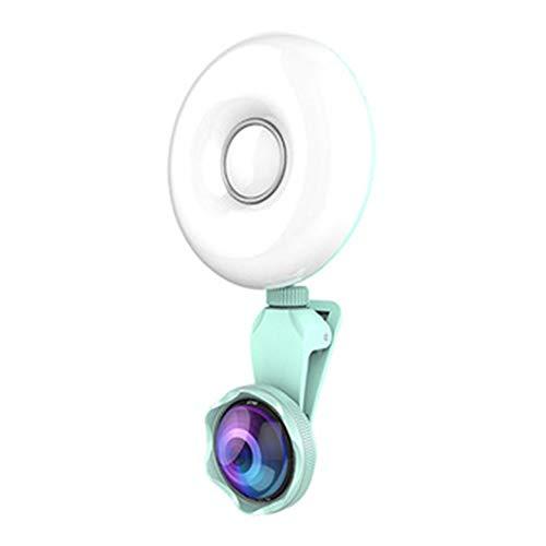 AN Selbstauslöser-Fülllicht-Handyobjektiv, Professionelles Externes Handyobjektiv 360-Grad-Drehberührungsfülllicht Geeignet Für Selbstauslöser,Grün