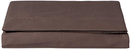 AmazonBasics, Lenzuolo in microfibra, 240 x 320 + 10 cm - Marrone