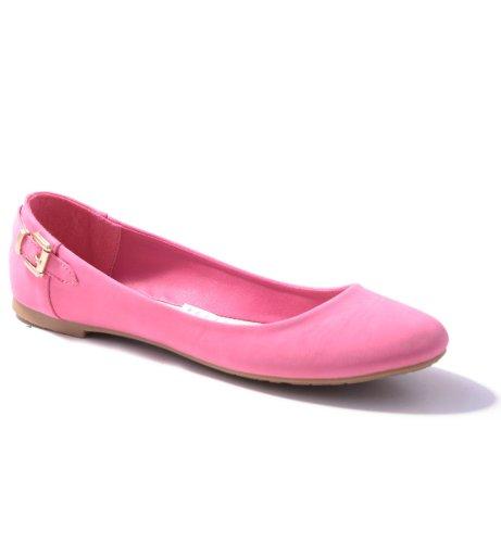 Damen Ballerinas in verschiedenen Farben Fuchsia