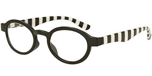 LINDAUER Klassische Lesebrille +3,0 schwarz Fertigbrille SIE & IHN Flexbügel