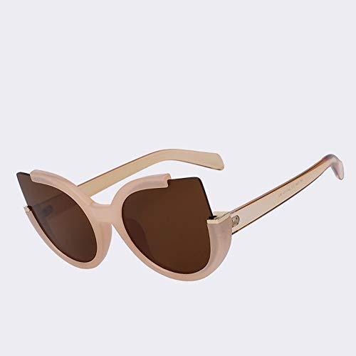 MoHHoM Sonnenbrille Runde Schatten Sommer Mode Sonnenbrille Frauen Vintage Brillen Für Damen Retro Uv400 Nude Frame