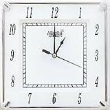 Ajanta - 421 - White Square Plastic Wall Clock (19 cm x 19 cm x 3.5 cm, White)