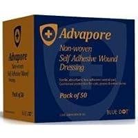 advapore Wundkompresse selbstklebend Wundauflage 8cm x 10cm, 50Stück von BlueDot preisvergleich bei billige-tabletten.eu