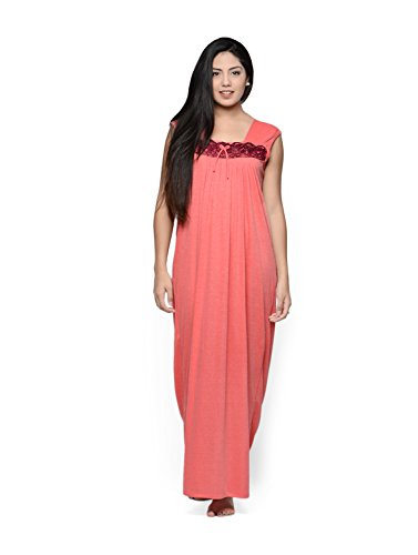 Klamotten Women's Nightwear (Kn58-1_Peach_Free Size)