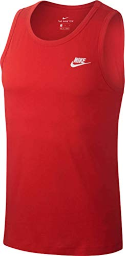 Nike Herren M NSW Club Tanktop, Rot (university red/White), S -