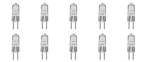 12 Vmonster Lot de 10 Blanc chaud Ac 240 V 75 W T3 T4 Ampoule halogène G5.3 Spot Jcd verres de rechange