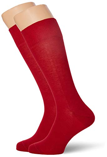 FALKE Herren Happy Chaussettes Lot 2 Paires Socken, Blickdicht, Scarlet 8228, 39/42 (Herstellergröße: 39-42) (2er Pack)