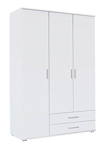 Avanti trendstore - rasant - armadio con 3 ante a battente in laminato di colore bianco, dimensioni: lap 127x188x52 cm
