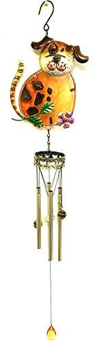 - Display® Hund Form w/gebeizt Glas Wind Chimes Röhren (Bejeweled Kitty)